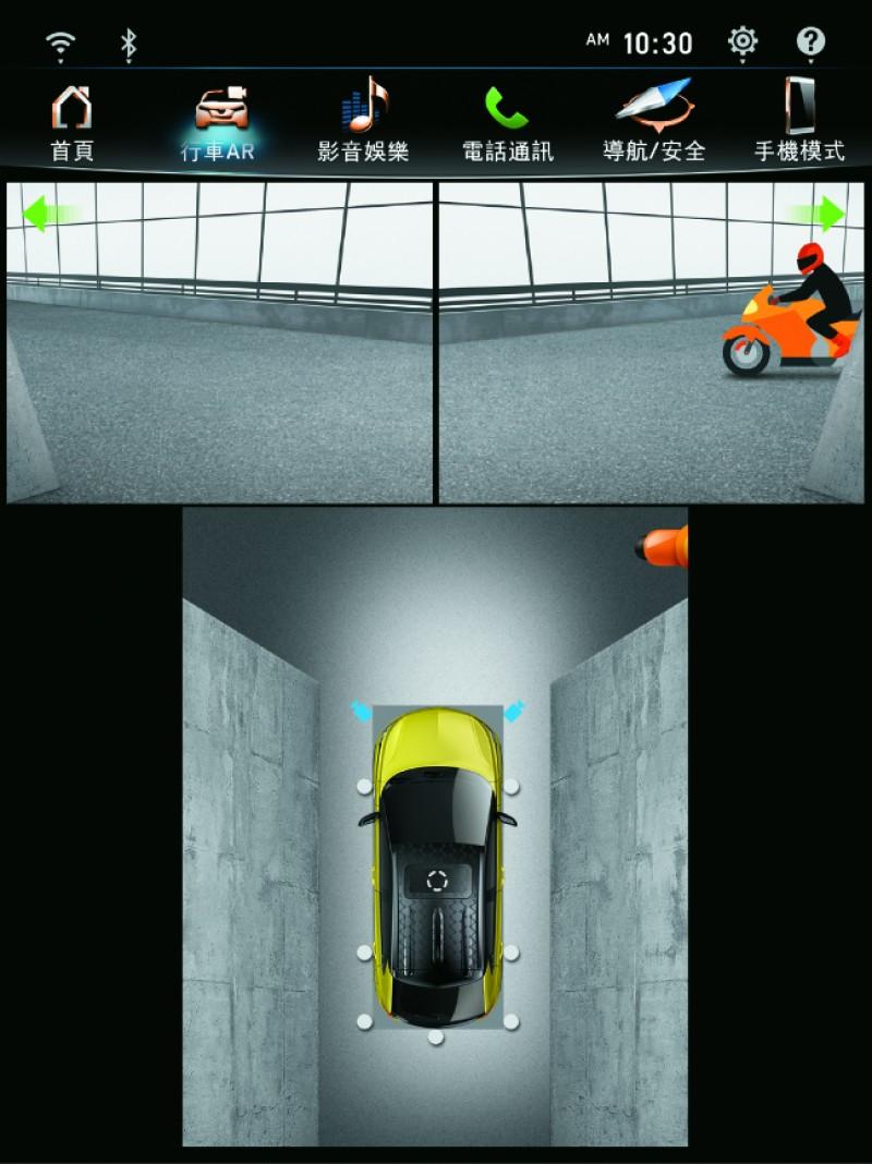 車頭雙側主動影像。