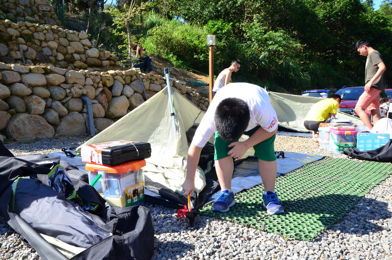 活動提供高檔的快速組裝帳篷,連小朋友都能夠輕鬆享受搭棚樂趣