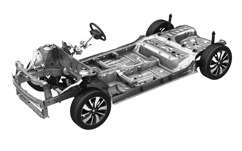 新世代的「HEARTECT」平台同時兼具了高剛性與輕量化特性,讓Swift空車重僅有940kg。
