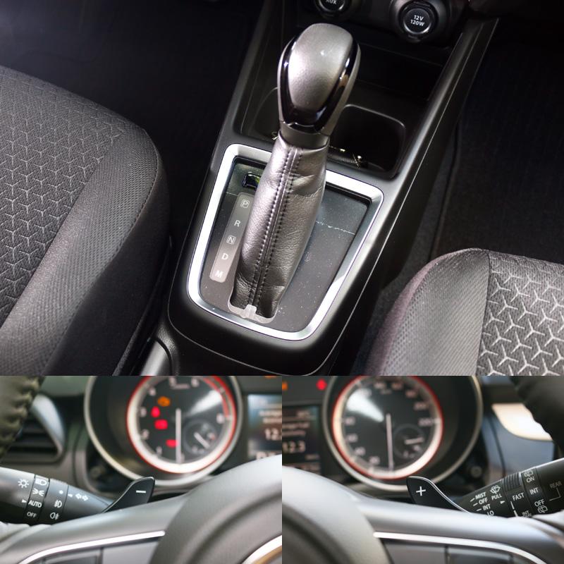 搭配之六速手自排變速系統附有方向盤換檔撥片。