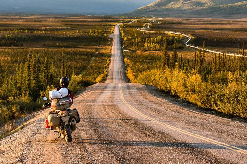 北極圈道頓公路上的景色。