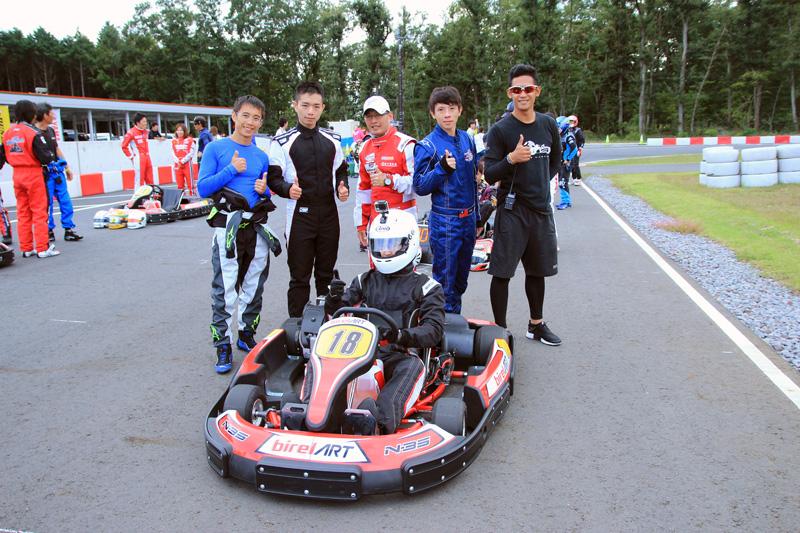 本次出征由大魯閣卡丁車場店長詹毅軒帶隊,共5位車手。