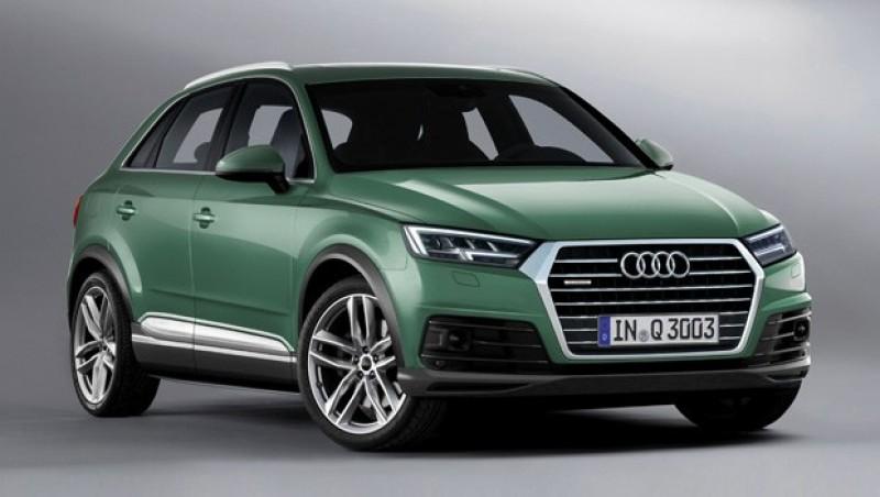 新一代Audi Q3 2018年就問世,有厚度的六角水箱罩與引擎蓋摺痕以及晝行燈線條都是外型重點