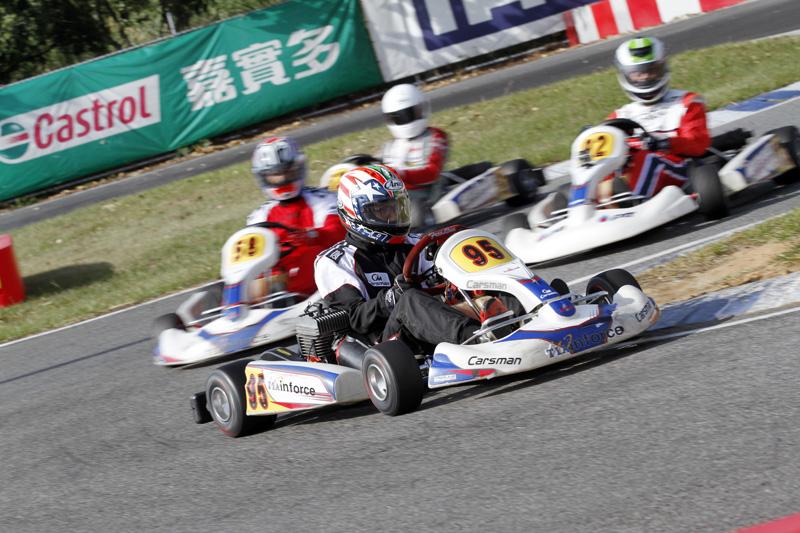 自Carsman車隊新秀劉蔚瑄本站出師不利,儘管單圈速度亮眼,決賽卻遭逢鏈條斷裂意外而退賽。