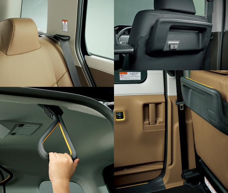 JPN TAXI車內亦設有許多貼心設計。