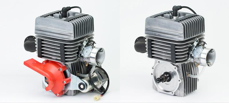 KT100SEC為電啟動型式(左)、KT100SD為直驅型式(右)。