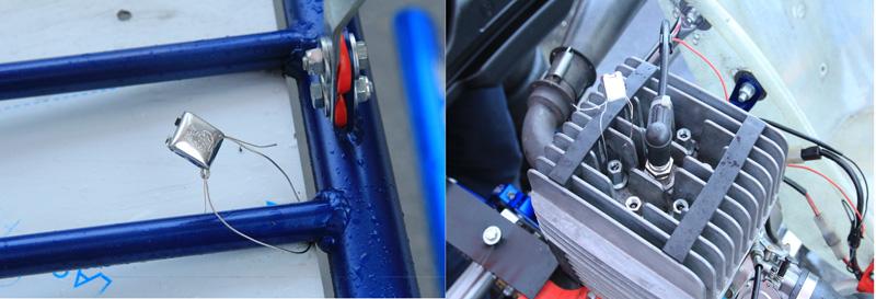 大會分別在引擎與車架上封籤,避免有心人士賽程中更換。