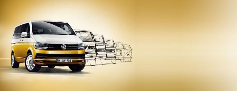 福斯商旅黃白雙色車身塗裝Multivan,將在2018年世界新車大展於台灣正式上市。