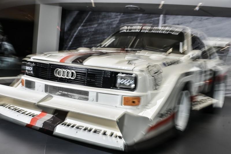 方正車體加上誇張的全車空力套件,動起來的 Audi sport quattro S1迫力十足啊!