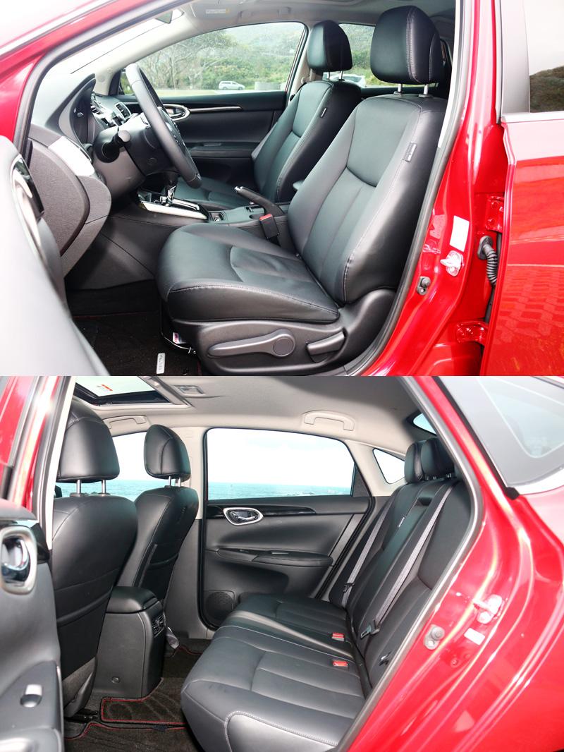 舒適的座椅與寬敞空間是Sentra最令人讚賞的部分。