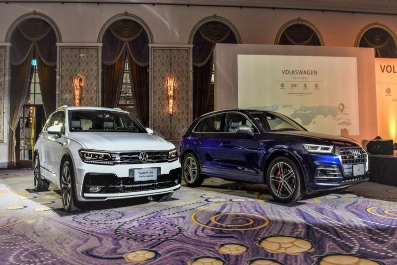 台灣福斯集團旗下品牌銷售主力車款(圖左)Volkswagen Tiguan 380TSI R-Line Performance(圖右)Audi SQ5。