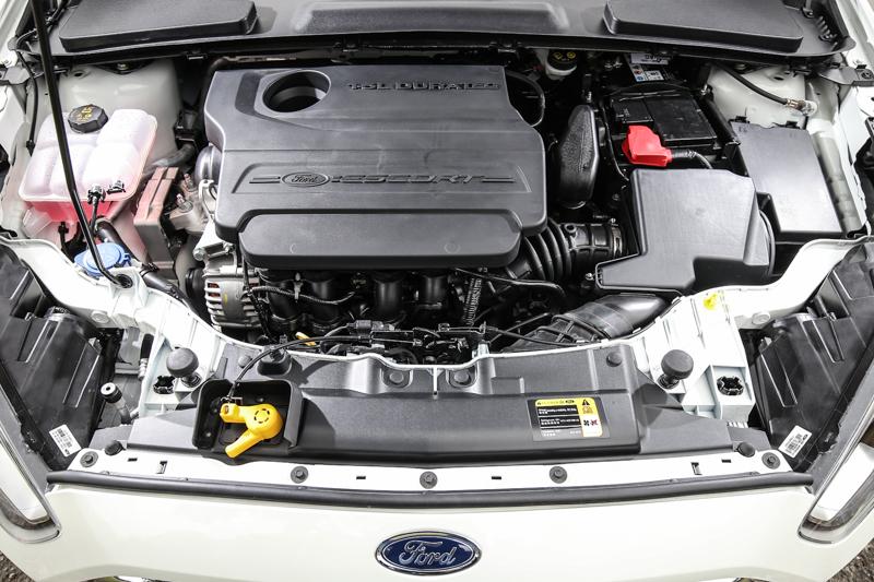 Escort搭載1.5升自然進氣汽油引擎,透過Ti-VCT雙可變氣門正時汽油引擎的加持,具備113ps/14.5kgm輸出表現。
