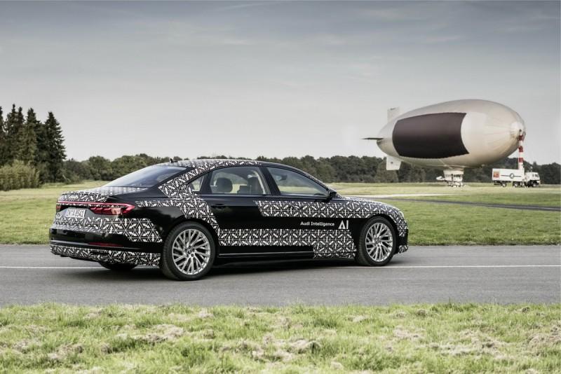 Audi 與 NVIDIA合作的全新里程碑—全球第一輛搭載Level 3自動駕駛的The new Audi A8 ,配備有 Traffic Jam Pilot 塞車導航系統與以及Audi AI remote parking pilot 自動停車輔助系統,內有 zFAS整合運算,未來在基礎建設完備的狀況下將能在塞車時進行自動駕駛的功能,提供駕駛更多元的時間利用,揭開人類夢想中第25小時的序幕。