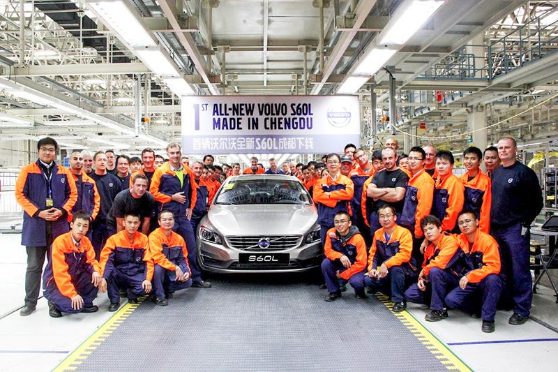 2013年落成啟用的成都工廠,最先投產的車款就是S60L。