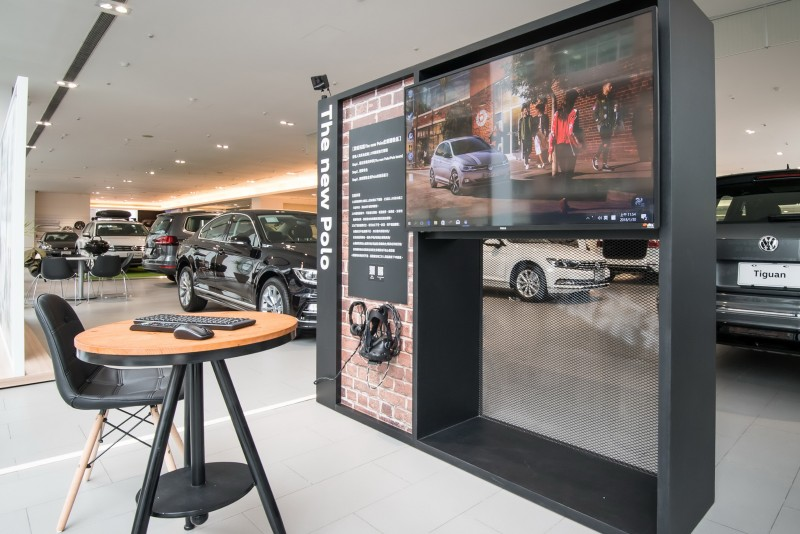 台灣福斯汽車導入VR虛擬實境互動體驗技術,於全台18處授權經銷商打造專屬體驗區。