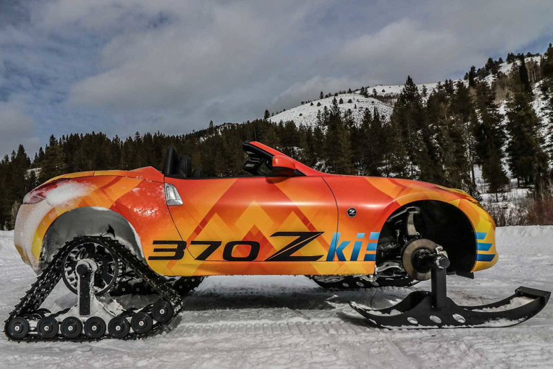移除了原有的四個車輪,換上了如雪地摩托車般的驅動裝置,前輪採用如雪板般的設計,後輪則是驅動履帶。