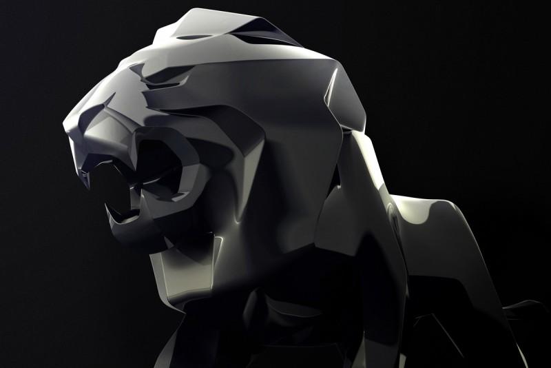 混合了具像與抽像輪廓,這雄獅雕塑是相當了不起的設計