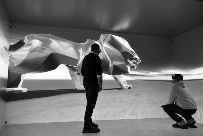草圖完成後接著是目標大小的虛擬3D投影