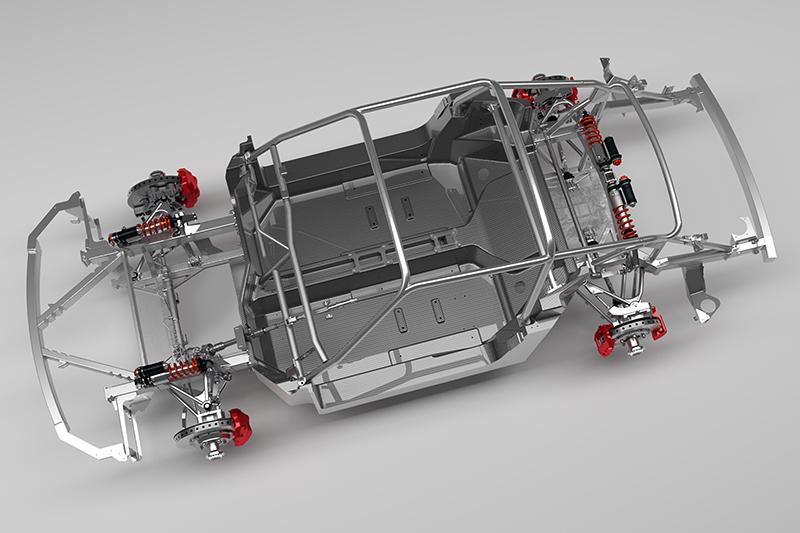 SCR擁有工廠賽車般的單體式碳纖維車體搭配前後樑與防滾籠,再加上碳纖維鈑件與水平推桿式懸吊,應該沒有人會懷疑它的性能吧?