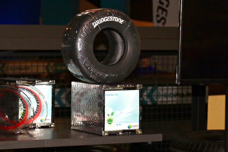 本次比賽使用車輛使用Bridgestone卡丁專用胎,並且更為了這次比賽特別搭載全新鋰電池,通過各國安全認證,重量少標準原版約40 kg。