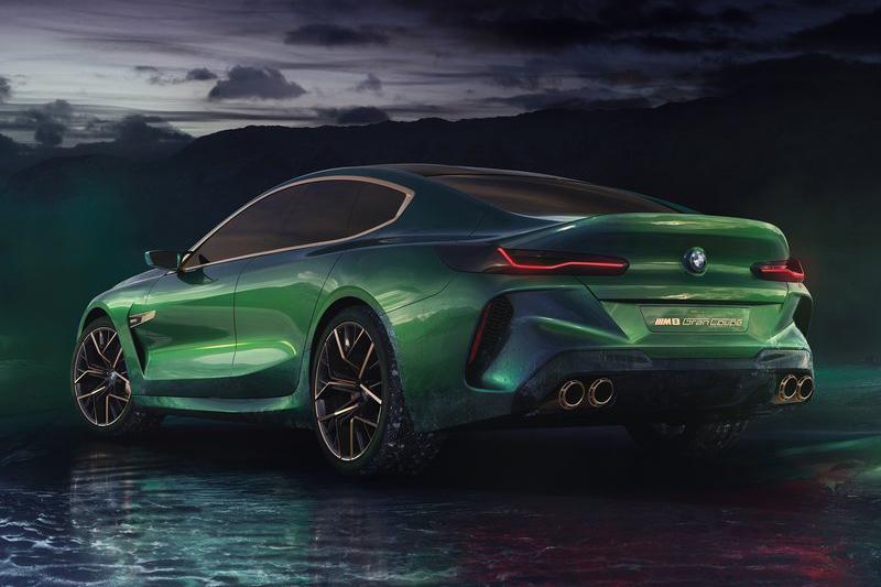 M8 Gran Coupe Concept擁有更加飽滿凶狠的視覺扮相。
