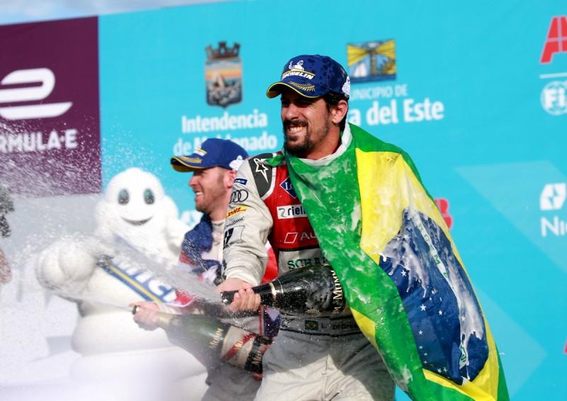 烏拉圭分站由Audi Sport明星車手Lucas di Grassi持續領先,勇奪烏拉圭分站亞軍!