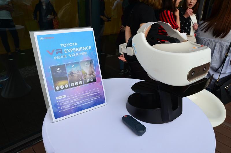 到展間可透過VR裝置實際感受全新搭載之VSC/TRC/HAC主動安全科技體驗