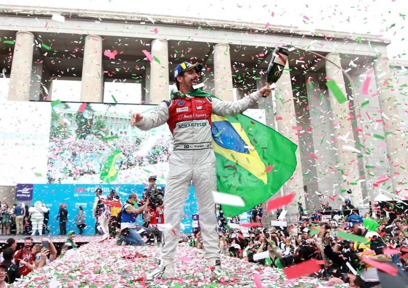 Audi Sport明星車手Lucas di Grassi持續在羅馬分站大展身手,在比賽中逆轉頹勢,駕駛Audi e-tron FE04勇奪分站亞軍!