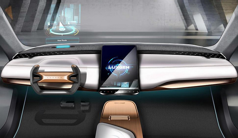 駕駛座前方可投射一組120mm x 60mm大小的虛擬影像,不僅可顯示行車數據與導航、安全系統等資訊,同時也可自由切換樣式。