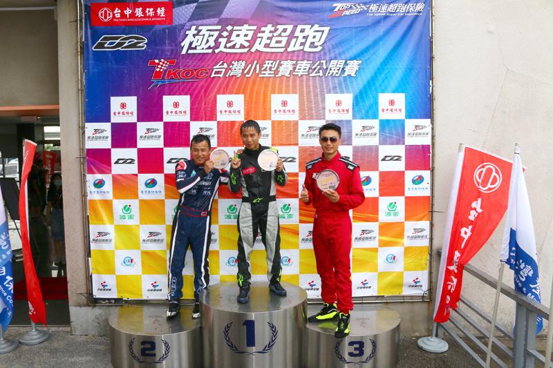 Super Nova 125新手組決賽前三名分別為簡凱徵、陳言升與黃崧禾。