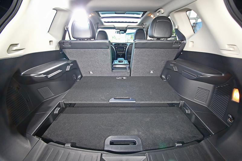 兩件式行李廂隔板可變化出27種不同形式,可固定物件使其不致滑動。