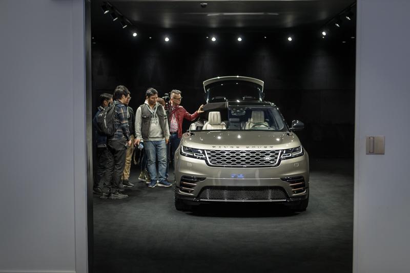 Range Rover Velar解剖車。