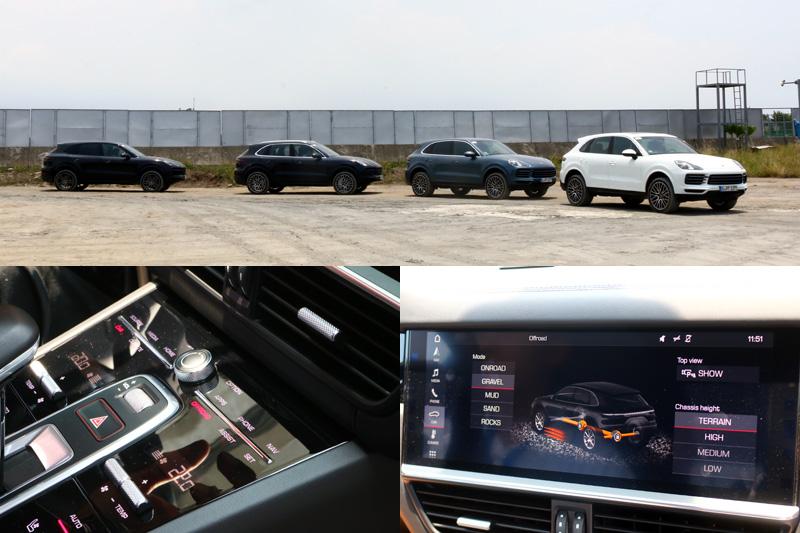 在進行越野體驗時需將Cayenne內建的Off-Road模式開啟,並將車身高度調至最高。
