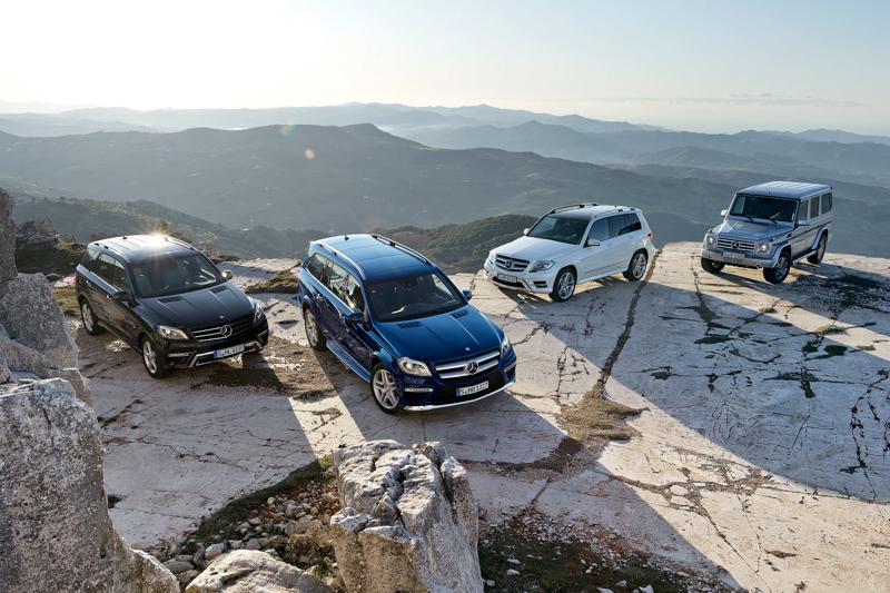 經過數十年的發展, G-Class的技術結晶延伸出Mercedes-Benz豪華休旅家族。