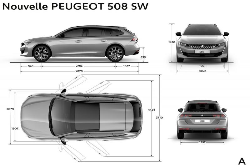 Peugeot 508 SW比580略長,但車高相近,都比上一代更短
