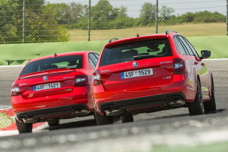 一直以來,RS這個紅綠車標只出現在最強的Skoda上頭。