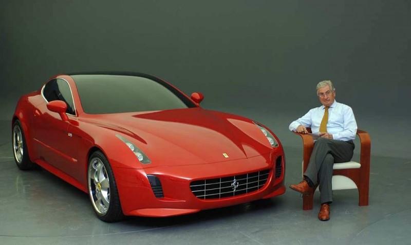 喬治亞羅本人與Ferrari GG50概念車
