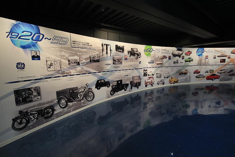 一上樓,彷彿時光走廊的歷史牆,可以迅速惡補一下Mazda的歷史。
