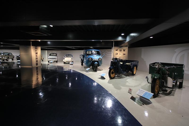 博物館另一側,從工作用車開始的Mazd歷史正等著所有車迷去發掘。