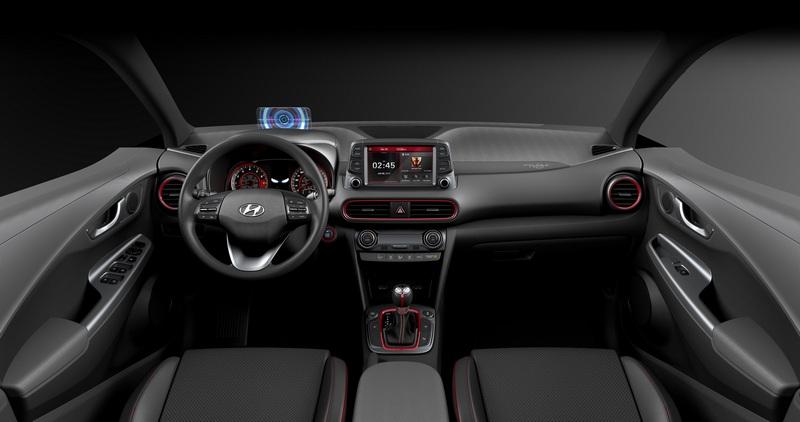 儀表與抬頭顯示器採與能源反應爐相似設計,替Kona帶來科技感座艙氛圍。