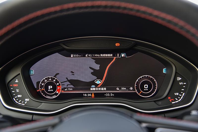科技化風格營造也是Audi車款的強項,在12.3吋全數位虛擬座艙上盡顯無遺。