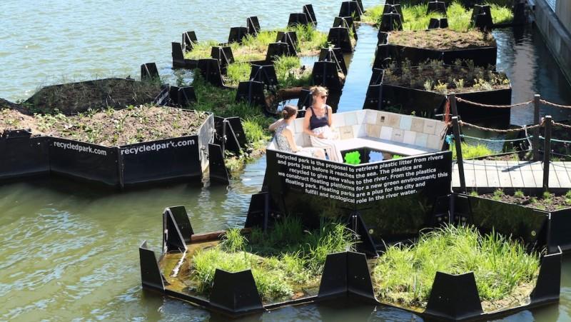 Audi環境基金會與合作夥伴再生島基金會在荷蘭鹿特丹打造第一個環保水上浮動公園。
