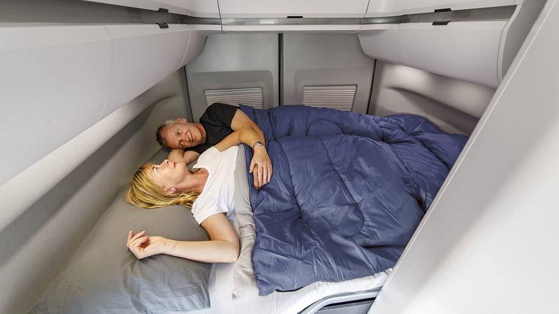 車艙甚至能容納一整家的起居需求