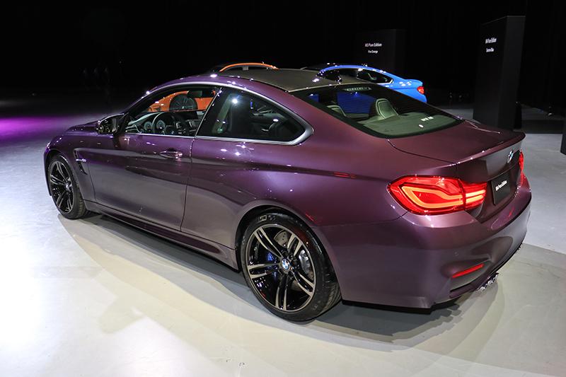 全場最得我心的就是這輛擁有Daytona Violet紫車色的M4,開在路上絕對不會撞色!