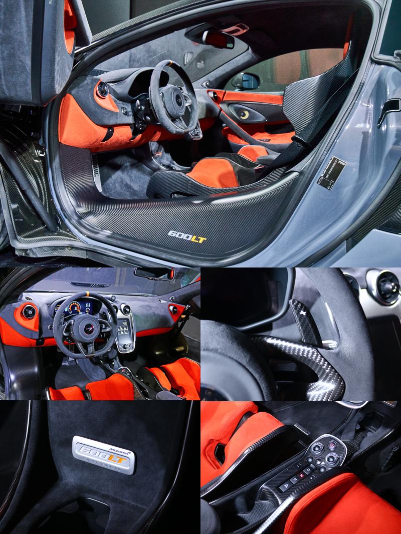 此次的發表展示車在車內同樣大量選用了碳纖維部品,同時雙彩配色同樣也是選配。