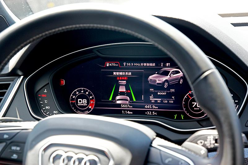 ACC主動定速巡航讓高速行駛更加輕鬆,車距警示系統也有提醒駕駛注意安全作用。
