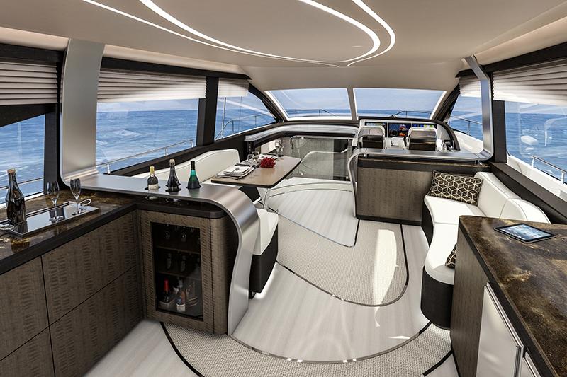 時尚而現代的船艙,環繞海景讓人不禁徜徉。
