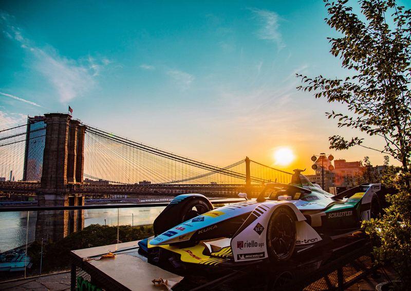 全新Audi e-tron FE05也在2017紐約分站亮相,有望接棒參賽12月中開跑的全新賽季。