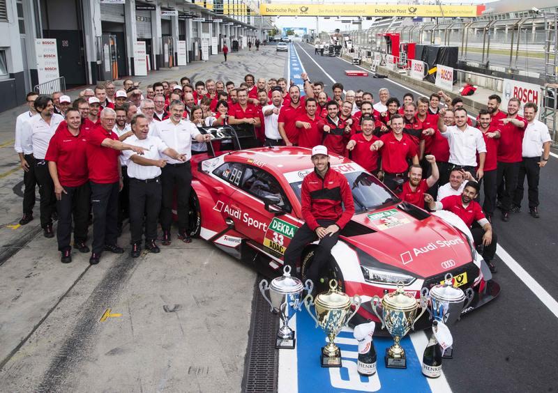 René Rast在周末兩場紐柏林分站賽中表現優異,搭配Audi RS 5 DTM出色的性能表現拿下超級桿位及分站冠軍,並排名車手總排名第三。
