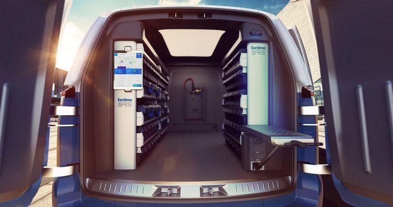 I.D. Buzz Cargo Cargo配置數位化物聯系統,駕駛可以掌握公司內部與車上庫存數量。